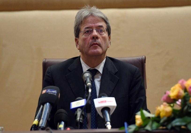 Szef włoskiego MSZ Paolo Gentiloni /AFP