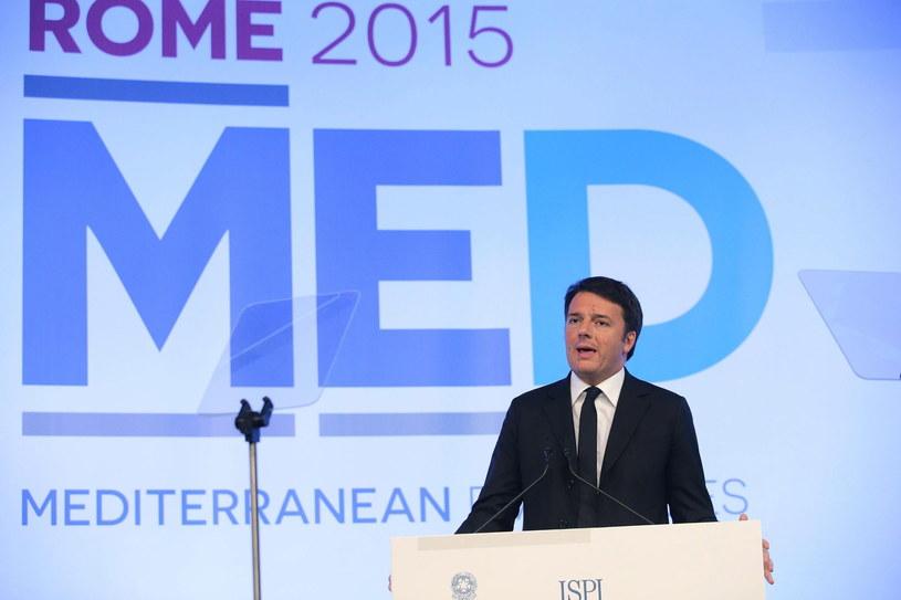 Szef włoskiego rządu Matteo Renzi /PAP/EPA