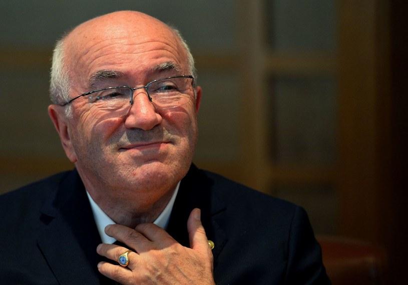 Szef Włoskiego Związku Piłki Nożnej (FIGC) Carlo Tavecchio /AFP