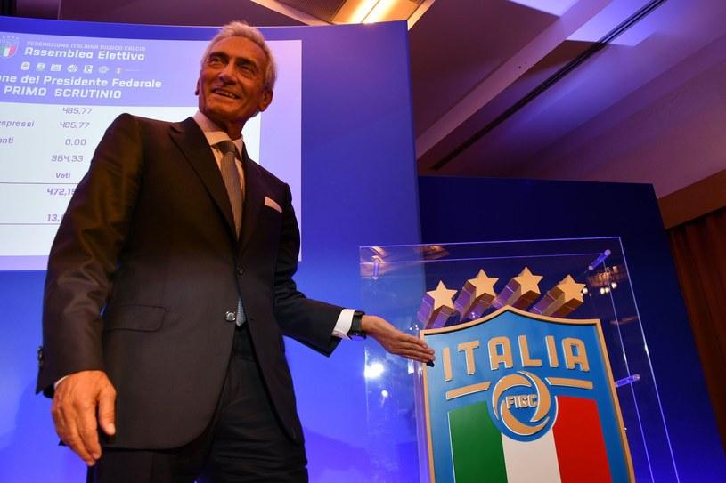 Szef Włoskiej Federacji Piłkarskiej Gabriele Gravina /AFP