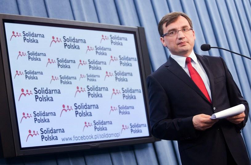 Szefem Solidarnej Polski jest Zbigniew Ziobro; fot. z 2014 roku /Adam Guz /Reporter