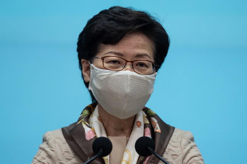 Szefowa administracji Hongkongu Carrie Lam. /JEROME FAVRE /PAP/EPA