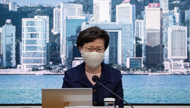 Szefowa administracji Hongkongu Carrie Lam /JEROME FAVRE /PAP/EPA