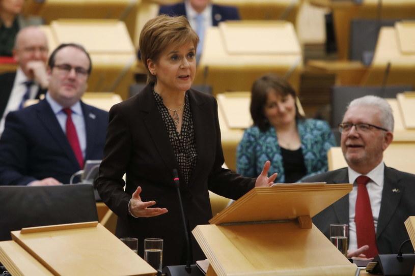 Szefowa autonomicznego rządu Szkocji Nicola Sturgeon /Finn Hall / Scottish Parliament /PAP/EPA