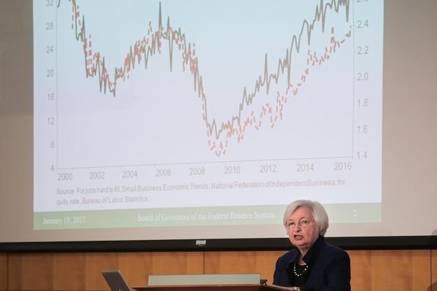 Szefowa FED nie zakoczyła rynków /AFP