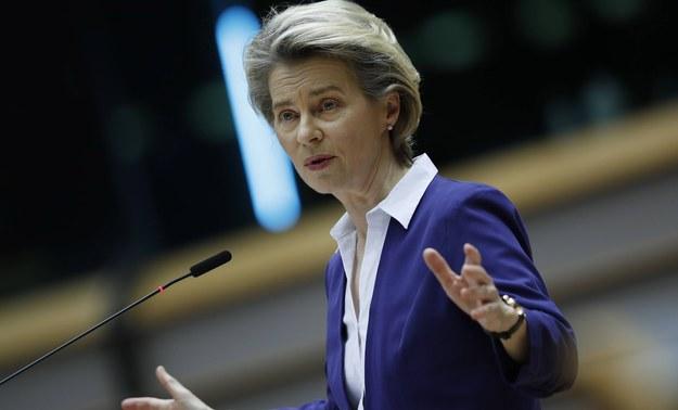 Szefowa KE Ursula von der Leyen /Francisco Seco / POOL /PAP/EPA