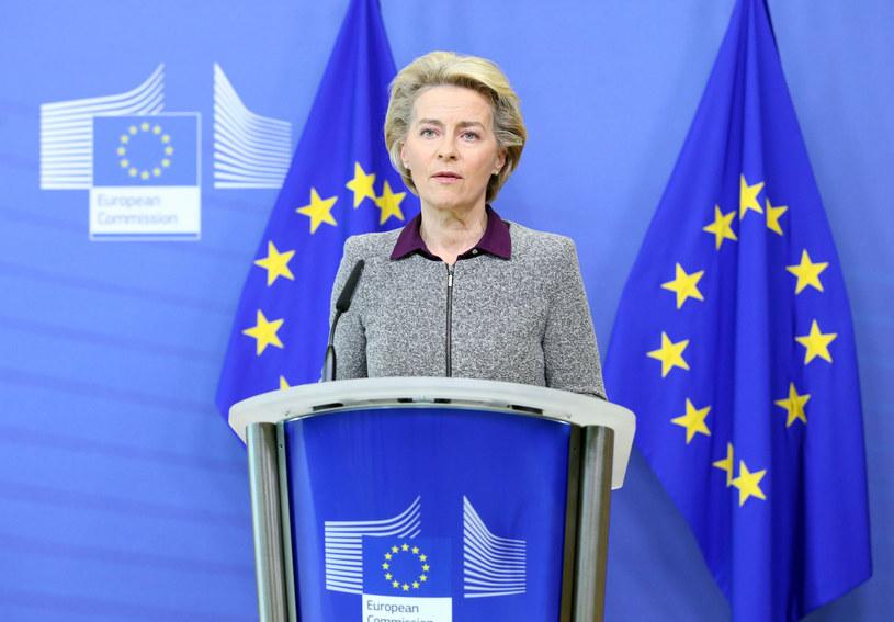 Szefowa Komisji Europejskiej Ursula von der Leyen. /FRANCOIS WALSCHAERTS/AFP/East News /East News