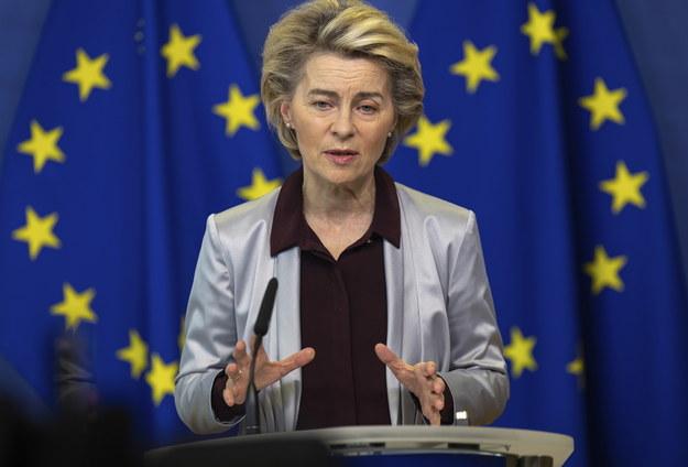 Szefowa Komisji Europejskiej Ursula von der Leyen /OLIVIER MATTHYS / POOL /PAP/EPA