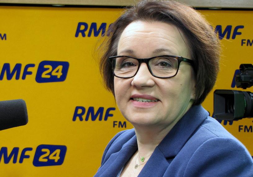 Szefowa MEN Anna Zalewska /Kamil Młodawski /RMF FM