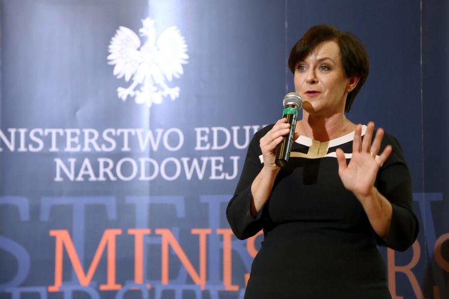 Szefowa MEN Joanna Kluzik-Rostkowska /Tomasz Gzell /PAP