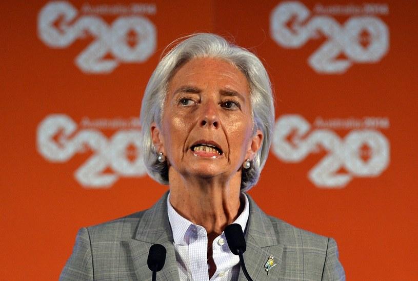 Szefowa Międzynarodowego Funduszu Walutowego Christine Lagarde. /AFP