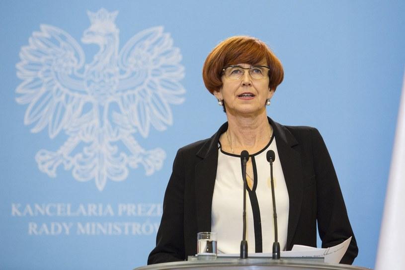 Szefowa MRPiPS Elżbieta Rafalska /Reporter