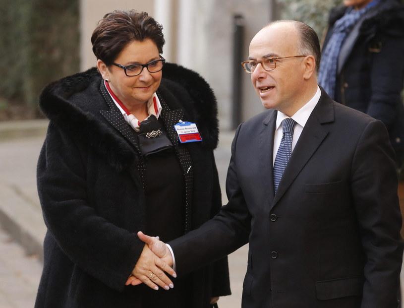 Szefowa MSW Teresa Piotrowska w Paryżu /PAP/EPA