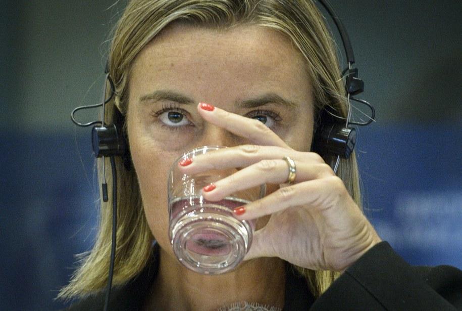 Szefowa włoskiej dyplomacji Federika Mogherini /Wiktor Dabkowski    /PAP