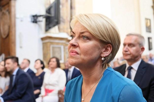 Szefowa Związku Polaków na Białorusi (ZPB) Andżelika Borys na zdjęciu z 2018 roku / Leszek Szymański    /PAP