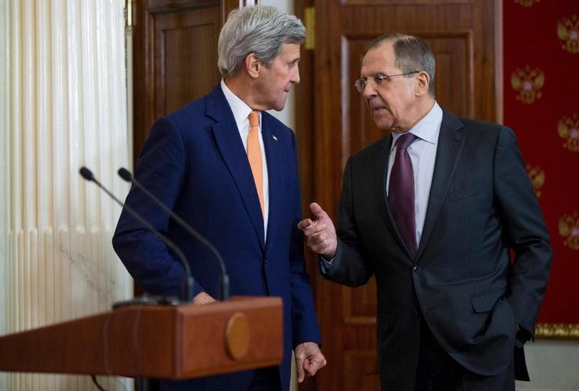 Szefowie dyplomacji USA i Rosji John Kerry i Siergiej Ławrow /AFP