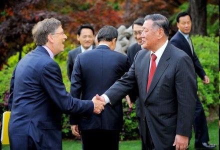 Szefowie Microsoft oraz Hyundai Motor, czyli Bill Gates Chung Mong-Koo /AFP