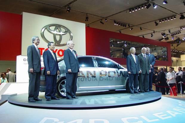 Szefowie Toyoty w Paryżu / Kliknij /INTERIA.PL