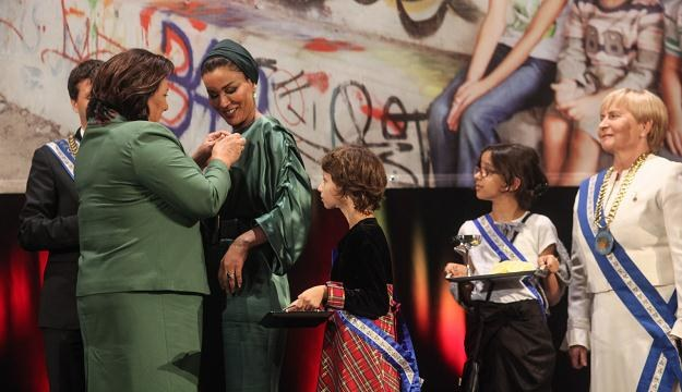 Szejkini Mozah Bint Nasser odebrała Order Uśmiechu/fot. Jakub Kamiński /PAP