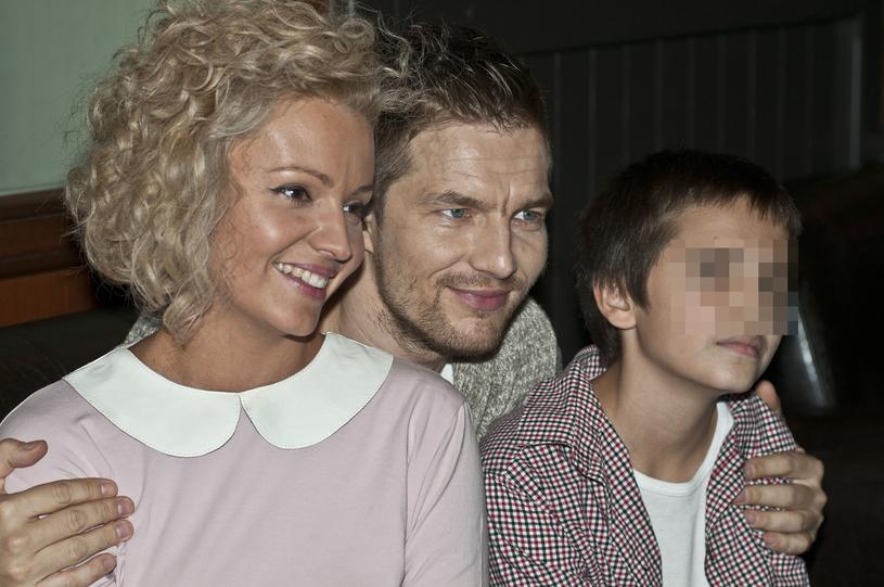 Szelągowska z byłym mężem i synem /East News