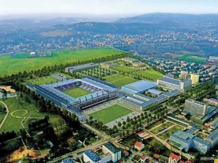 Sześć boisk treningowych, hala sportowa, trzy hotele Hiltona - takie są plany/fot. wizualizacja DDJM /EchoMiasta_Kraków