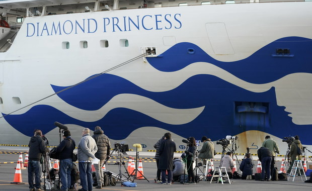 Sześć nowych zakażeń koronawirusem na wycieczkowcu Diamond Princess