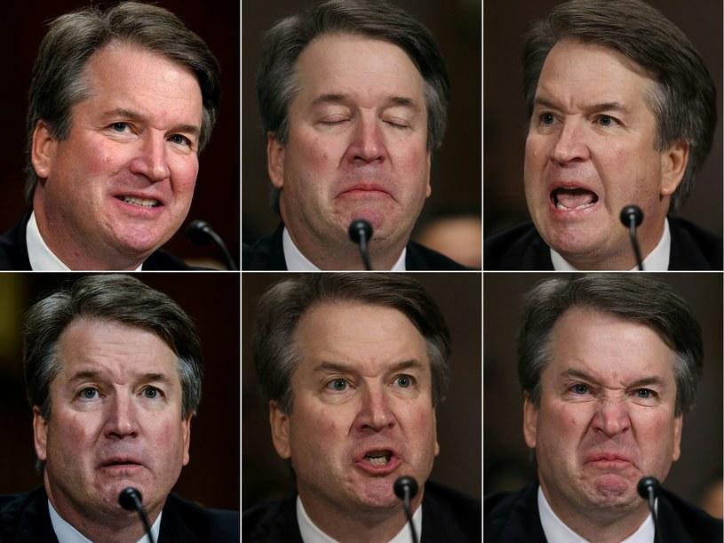 Sześć twarzy sędziego Kavanaugha /AFP