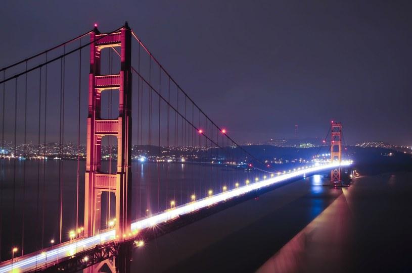 Sześciopasmowa droga podtrzymywana jest przez liny, które co 15 metrów zwisają z dwóch głównych lin nośnych. Oprócz tego w most wbudowano dodatkowo gigantyczne amortyzatory drgań, które tłumią wstrząsy oraz inne obciążenia /123RF/PICSEL