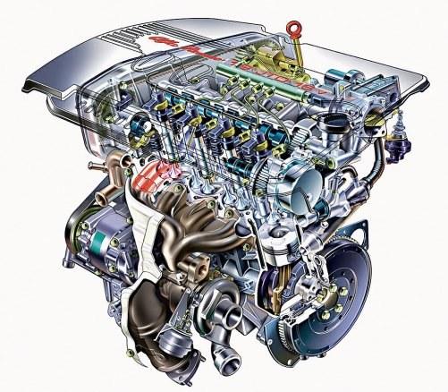 Szesnastozaworowe głowice pojawiły się w 2002 r., ale nawet później oferowano odmiany z dwoma zaworami na cylinder. /Alfa Romeo