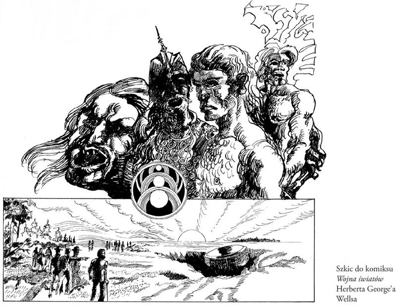 """Szkic do """"Wojny Światów"""" /materiały prasowe"""