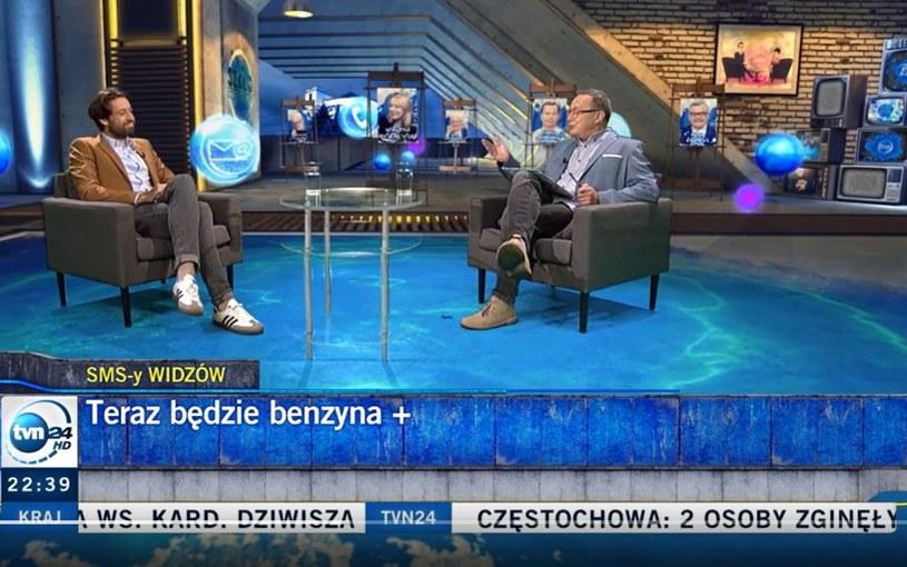 """""""Szkło kontaktowe"""" zostało przerwane! /Screen.tvn24.pl/ /materiał zewnętrzny"""