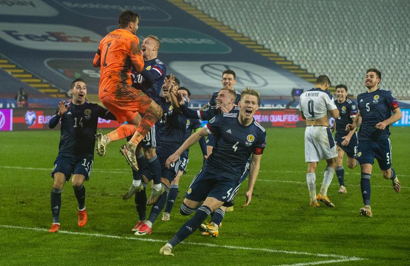 Szkocja, by zagrać z Chorwacją na Euro 2020, musiała wygrać baraże. W nich lepiej strzelała rzuty karne od Izraela i Serbii /Nikola Krstic / SNS Group /Getty Images