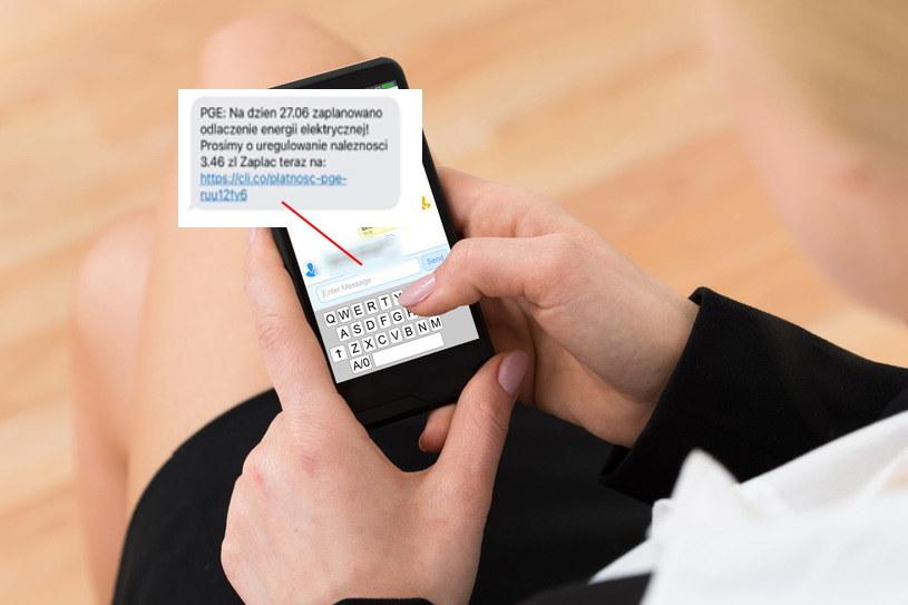 Szkodliwy SMS - oszuści chcą wciągnąć klientów PGE w pułapkę /123RF/PICSEL