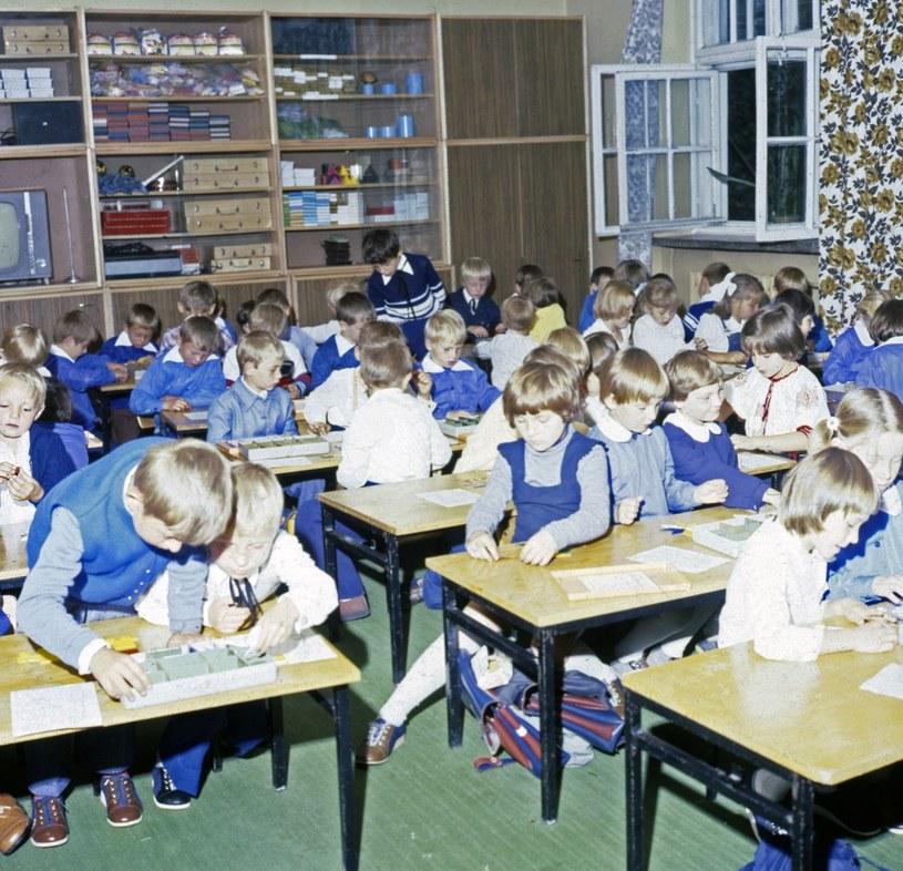 Szkoła gminna, 1980 rok /Zenon Zyburtowicz /East News