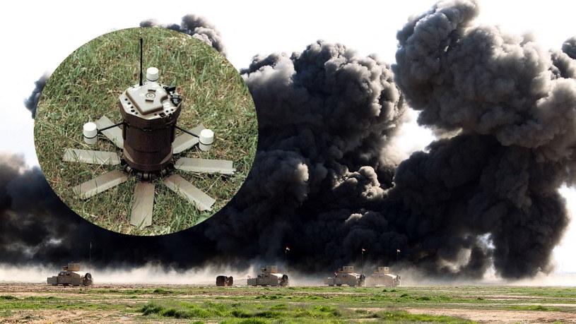 Szkolenie irackiej armii przez Amerykanów z detonowania min. Z lewej strony zdjęcie M93 Hornet /AFP