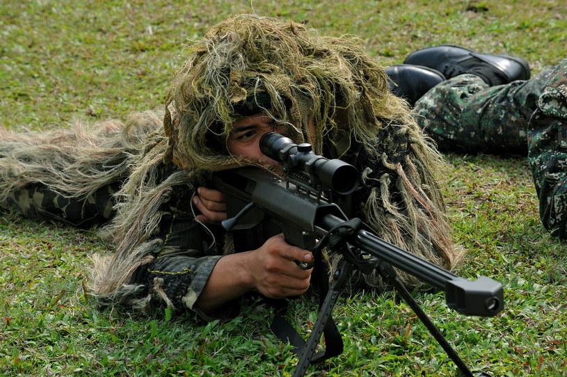 Szkolenie snajperów US Marines na Filipinach /AFP