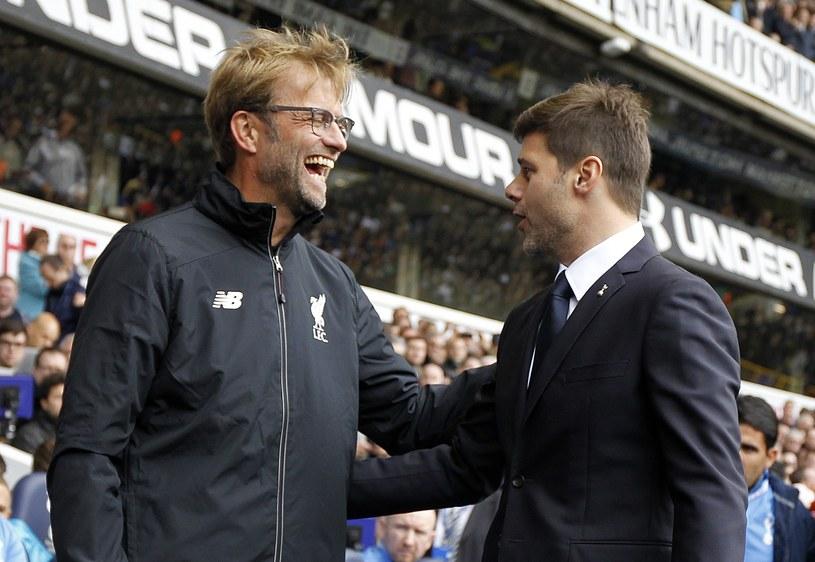 Szkoleniowiec Liverpoolu Juergen Klopp (z lewej) i trener Tottenhamu Mauricio Pochettino /AFP