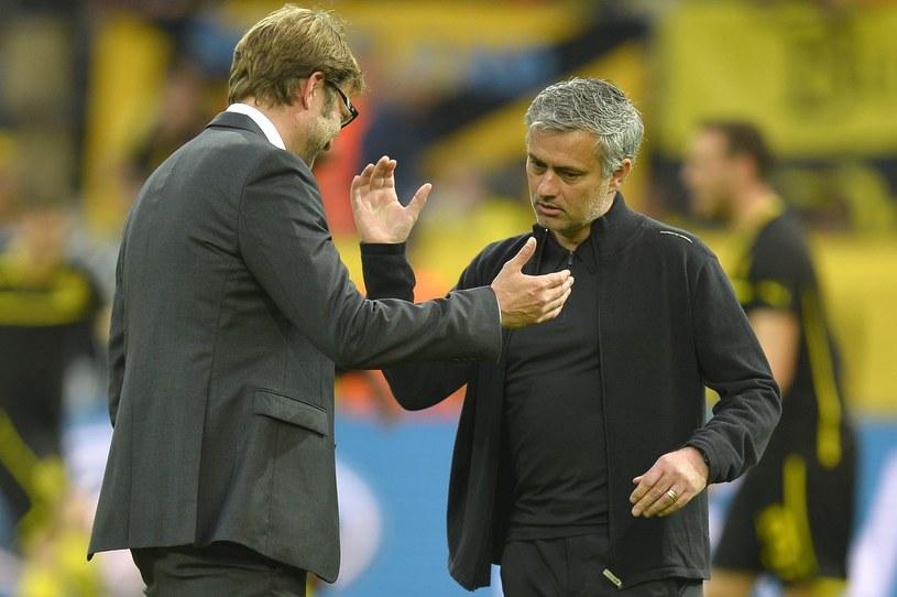 Szkoleniowiec piłkarzy Borussii Dortmund Juergen Klopp i trener Realu Madryt Jose Mourinho /AFP