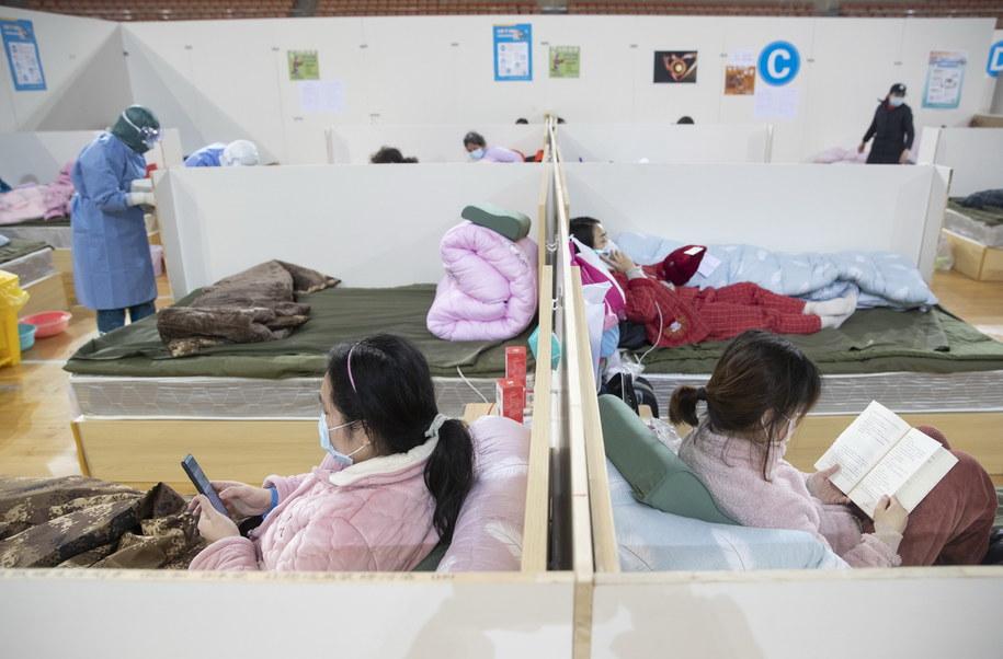 Szpital tymczasowy w chińskim Wuhan, zdj. ilustracyjne /STRINGER /PAP/EPA