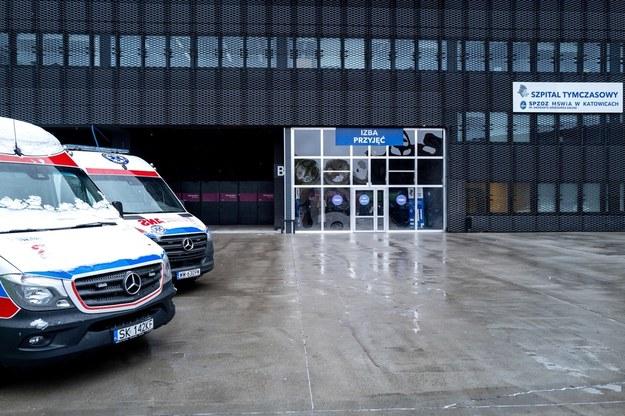 Szpital tymczasowy w hali Miedzynarodowego Centrum Kongresowego w Katowicach / Andrzej Grygiel    /PAP