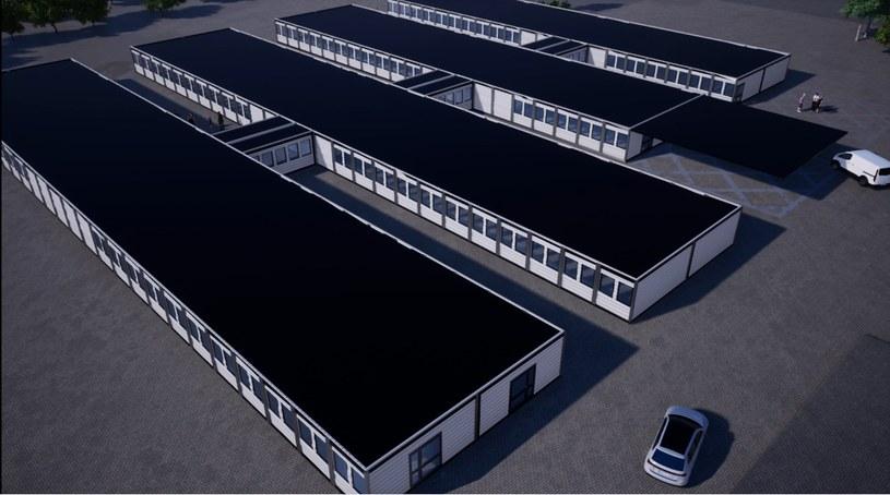 Szpital tymczasowy w Płocku wizualizacja. Żródło: PKN Orlen /materiały prasowe
