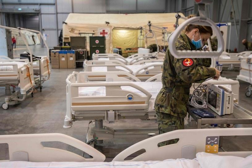 Szpital tymczasowy w Pradze /MICHAL CIZEK/Michal Cizek /AFP