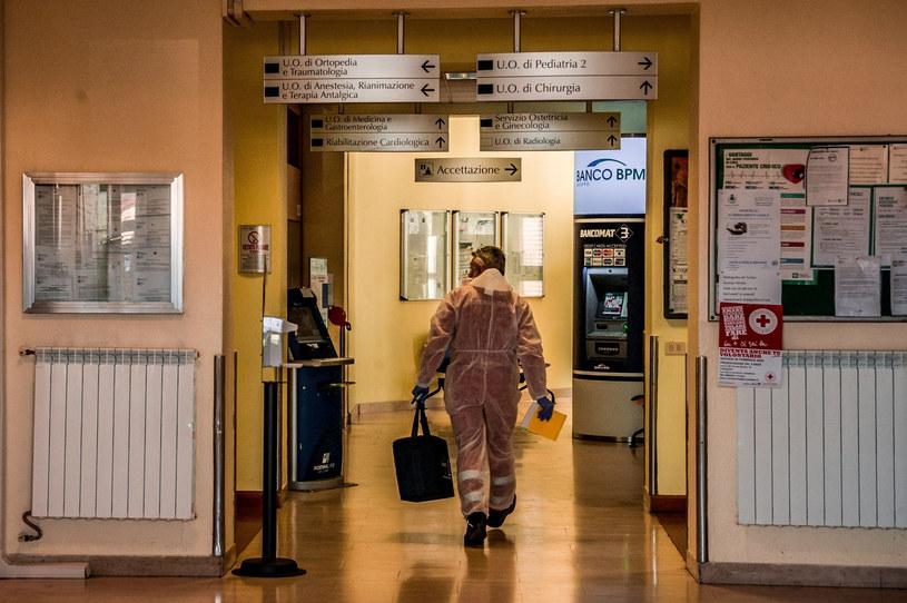 Szpital w miejscowości Codogno na północy Włoch /Carlo Cozzoli/FOTOGRAMMA/SIPA/SIPA/East News /East News