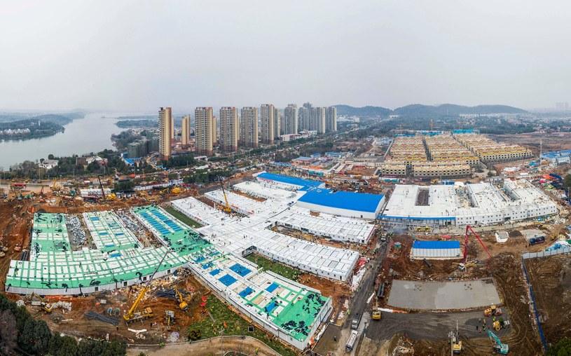 Szpital w Wuhanie widziany z góry, zdj. ilustracyjne /CHN AFP/AFP STR /AFP