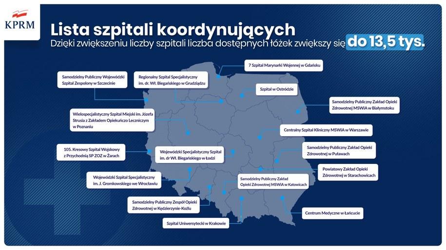 Szpitale koordynacyjne. fot.: KPRM / gov.pl /RMF FM
