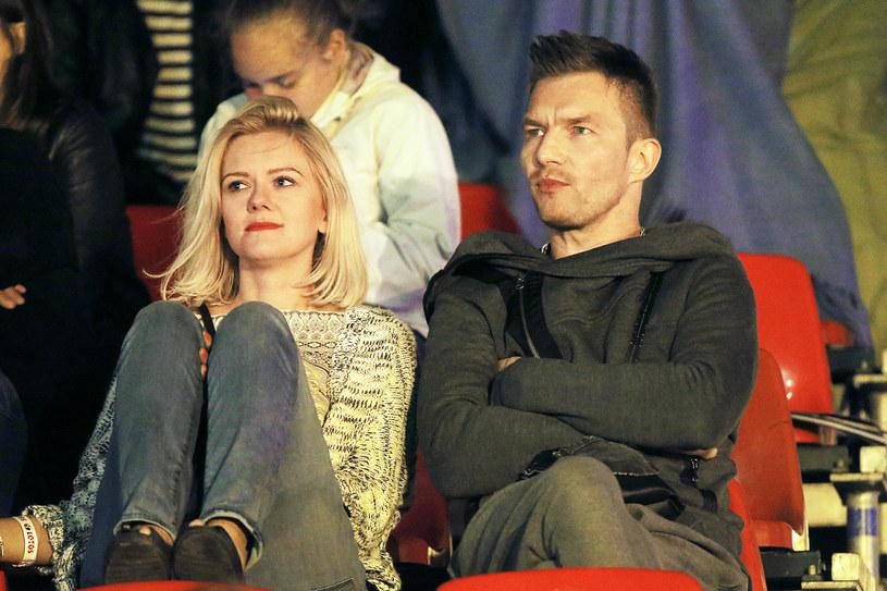Sztaba z nową żoną, Agnieszką /Baranowski /AKPA