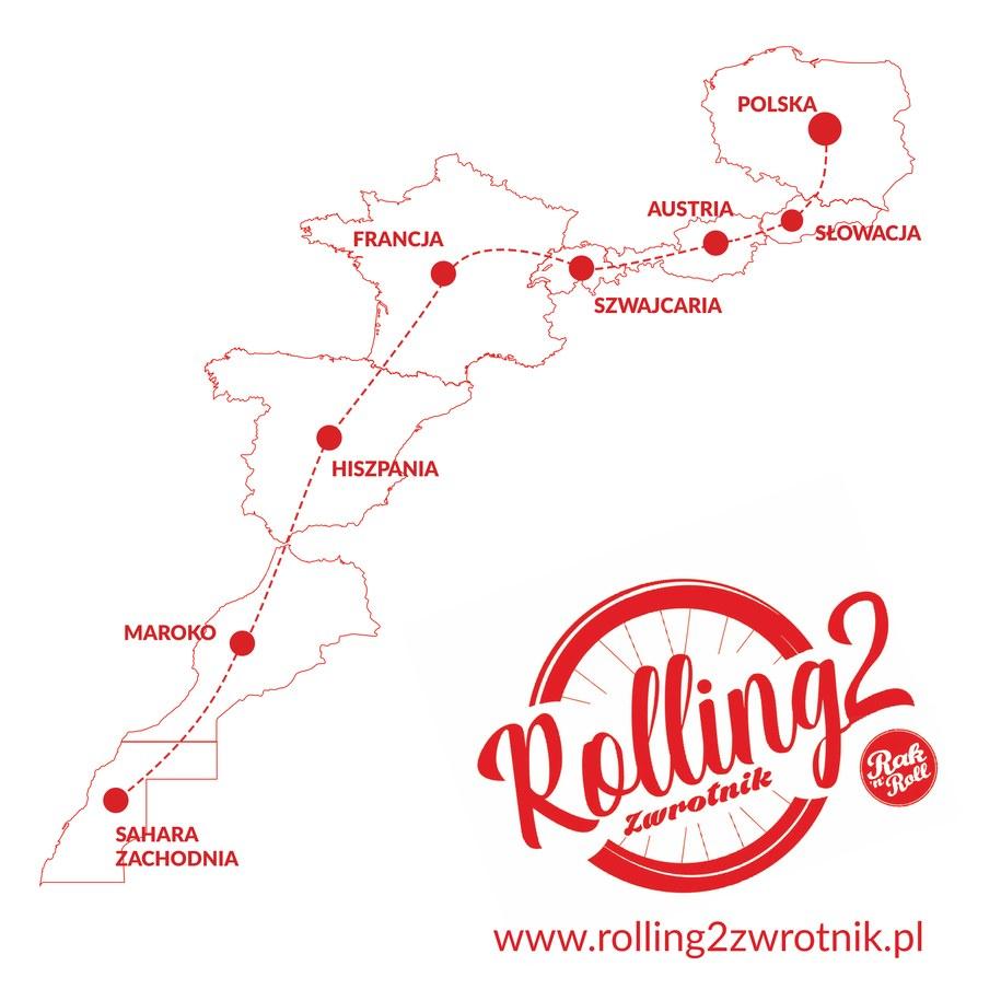 """Sztafeta """"Rolling2Zwrotnik"""" przejedzie trasę długości 7 tysięcy kilometrów /Materiały prasowe"""