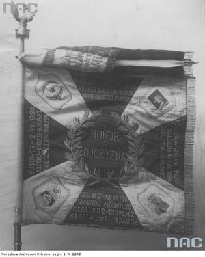 Sztandar 43 Pułku Piechoty Legionu Bajończyków /Z archiwum Narodowego Archiwum Cyfrowego