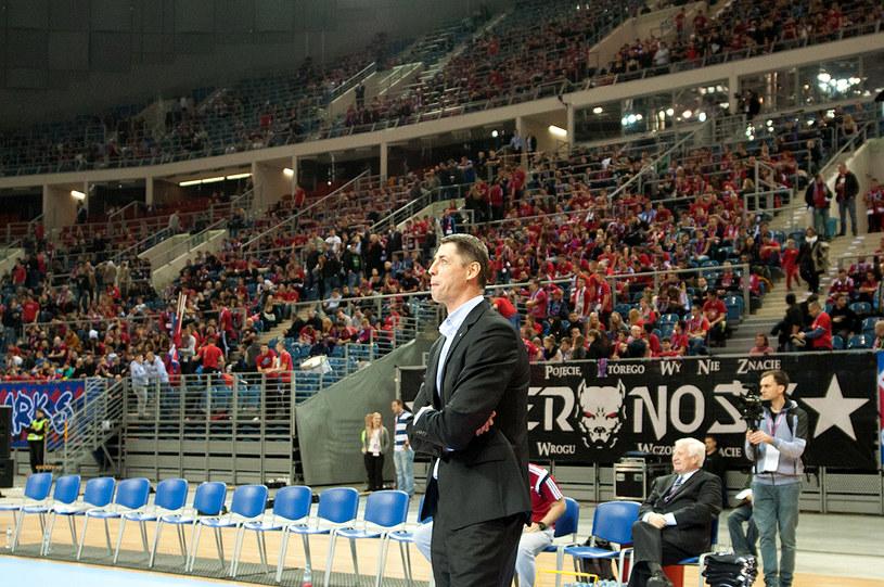 Sztefan Svitek podczas meczu Wisła Can-Pack - Galatasaray w Kraków Arenie. /Joanna Żmijewska /INTERIA.PL