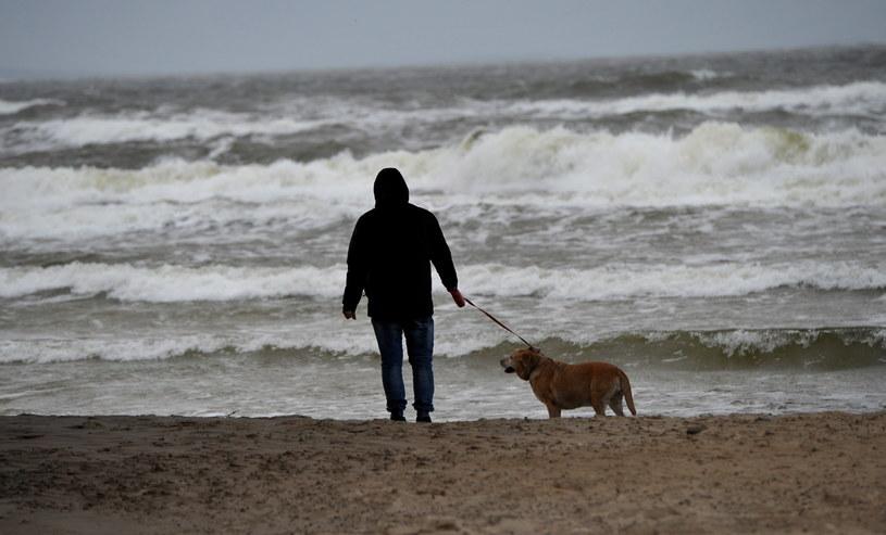 Sztormowa pogoda nad morzem /Marcin Bielecki /PAP